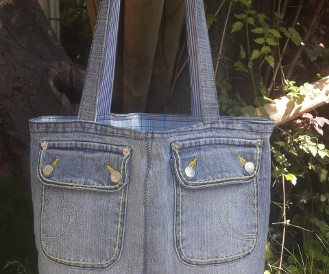 peppige Jeanstasche
